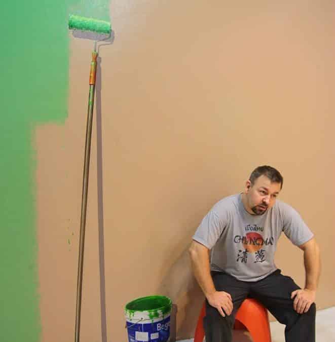Når malingen er tør, og alt er på plads.
